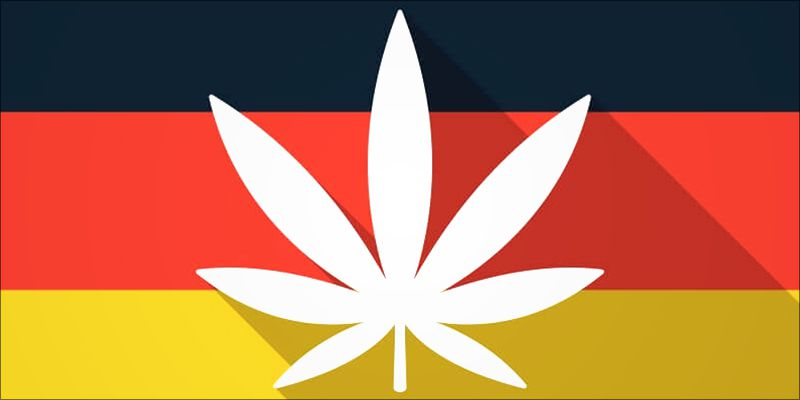 Marijuana Leaf on German Flag