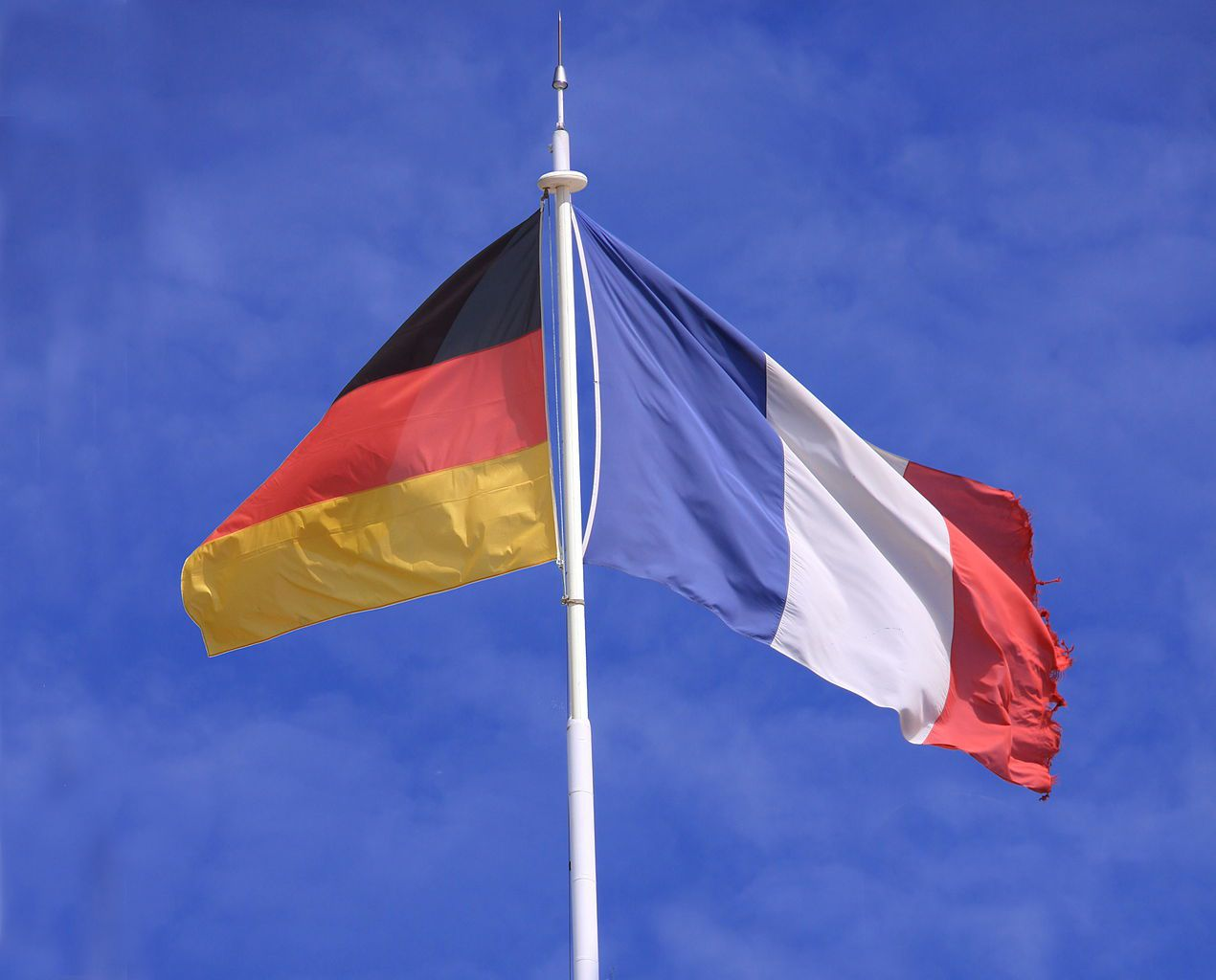 Flags of Germany and France