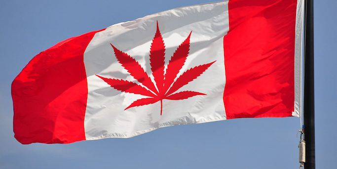 Canadian cannabis flag