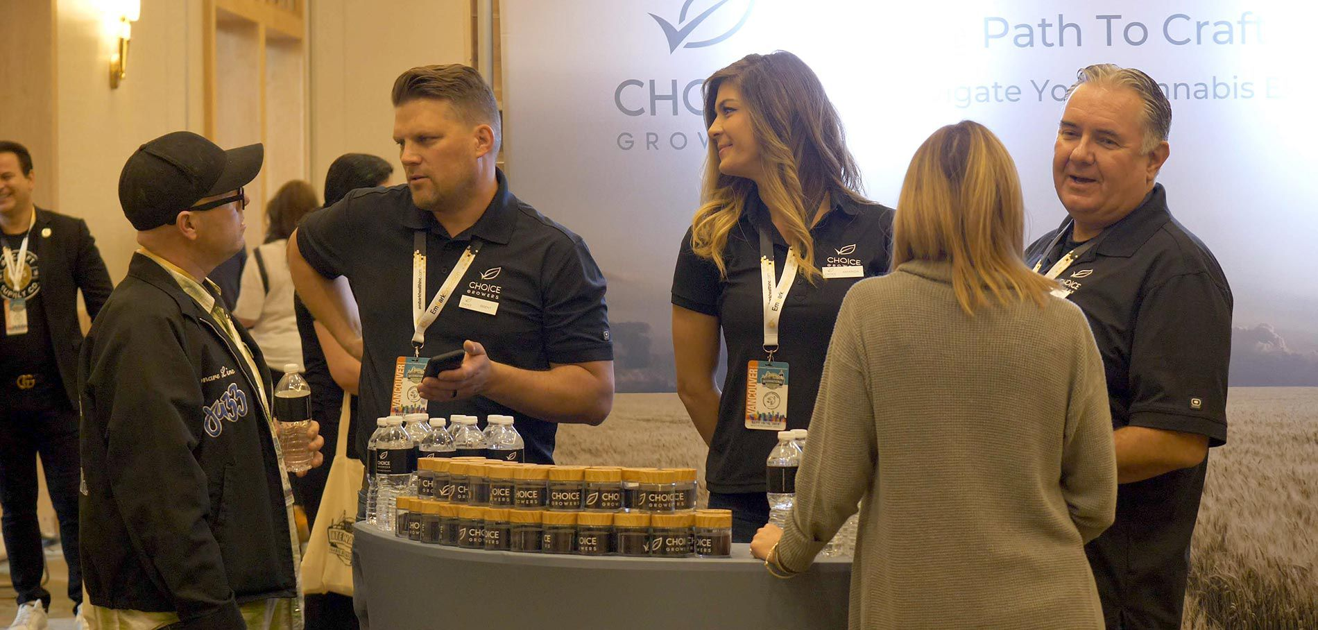 Choice Growers cannabis exhibitor booth