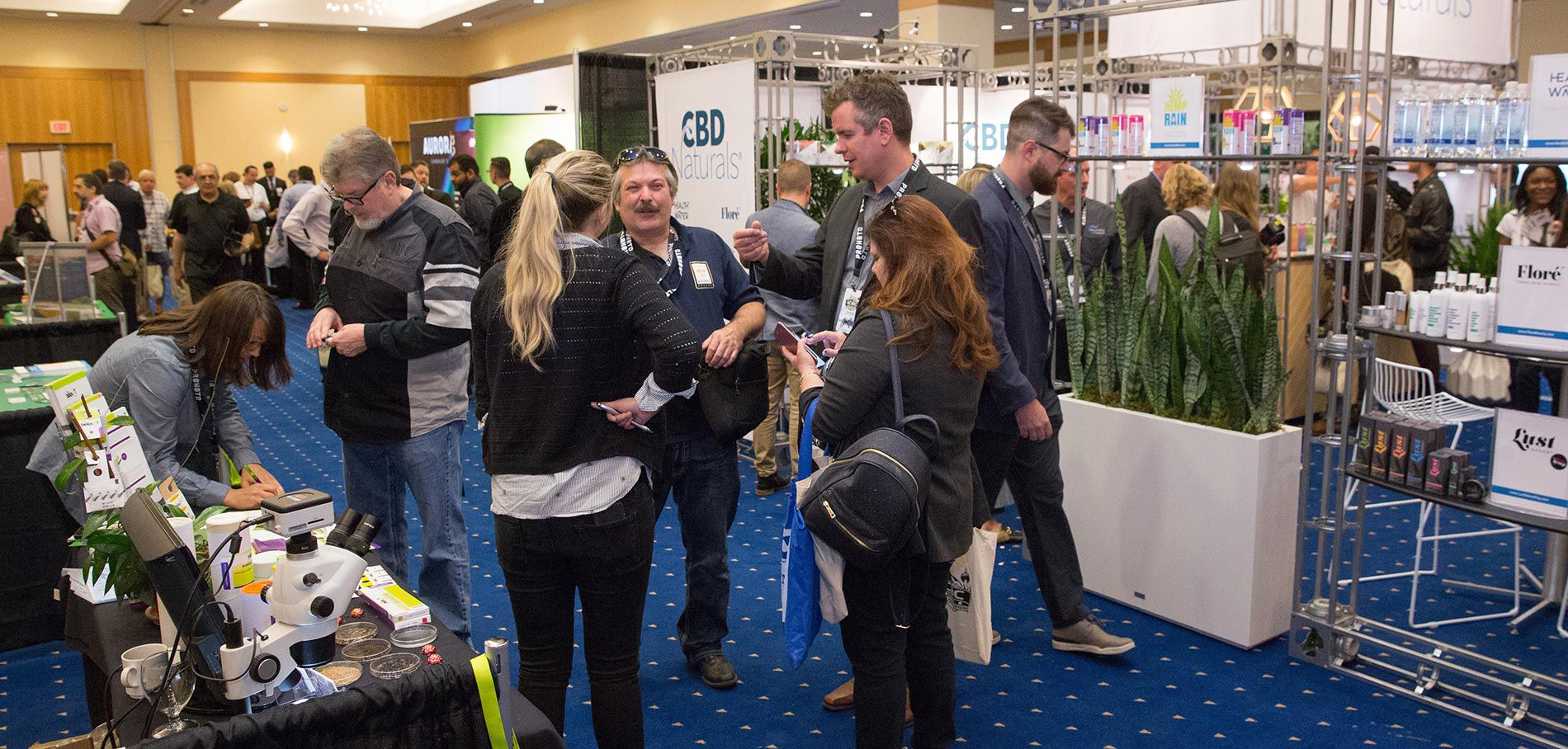 cannabis conference CBD exhibitors booths