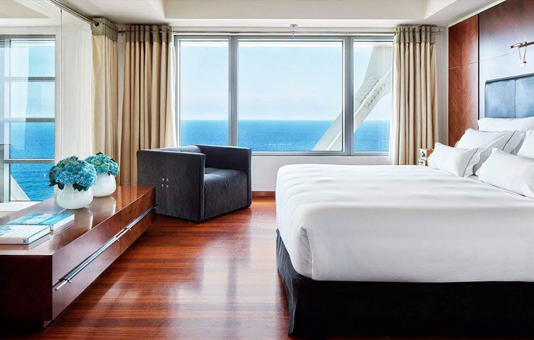 Hotel Arts ocean view room Barcelona Spain