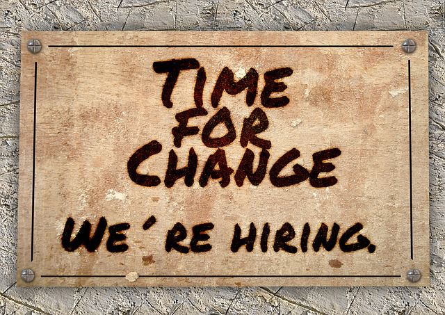 Time for Change We Are Hiring